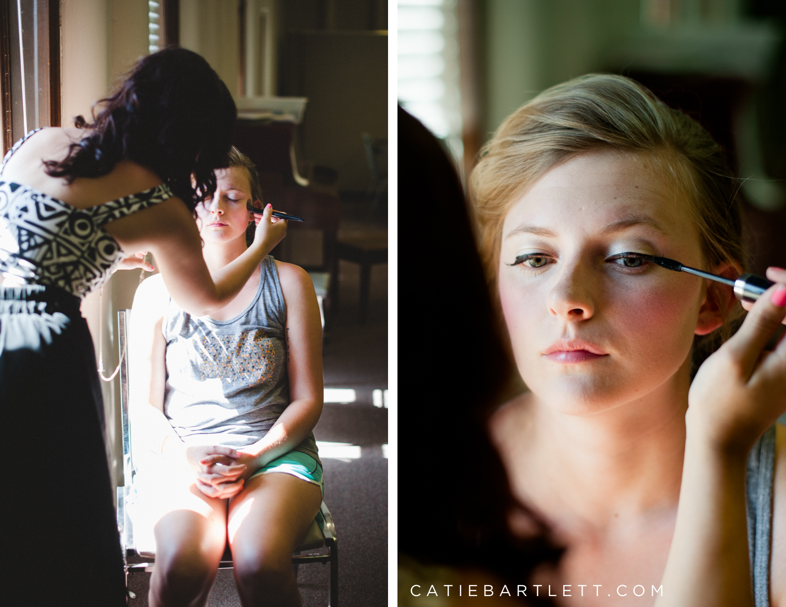 14 Bride Getting Makeup Done Norman Oklahoma Wedding Photographers