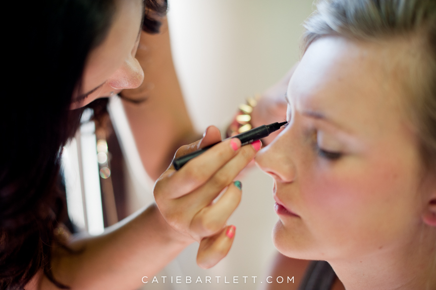 15 Bride Getting Makeup Done Norman Oklahoma Wedding Photography