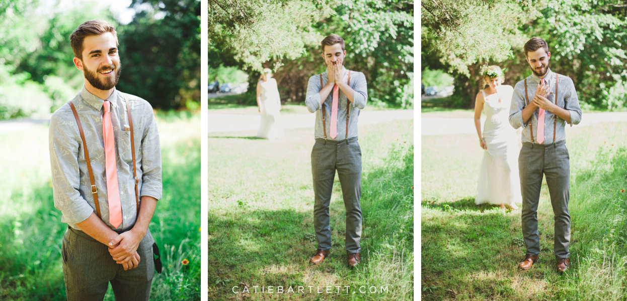 32 Bride And Groom First Look Best Oklahoma City Wedding Photographers