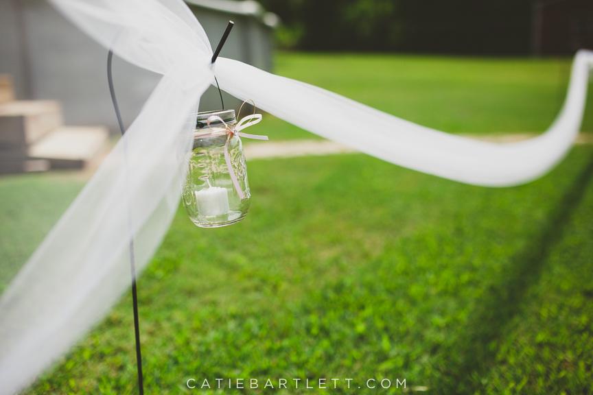 15 Tulle Lining The Aisle Mason Jars And Candles Backyard