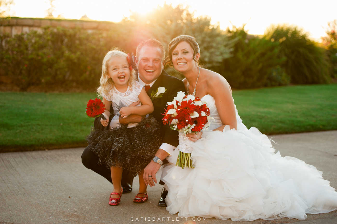 51. bride and groom with flower girl norman wedding photography norman ...