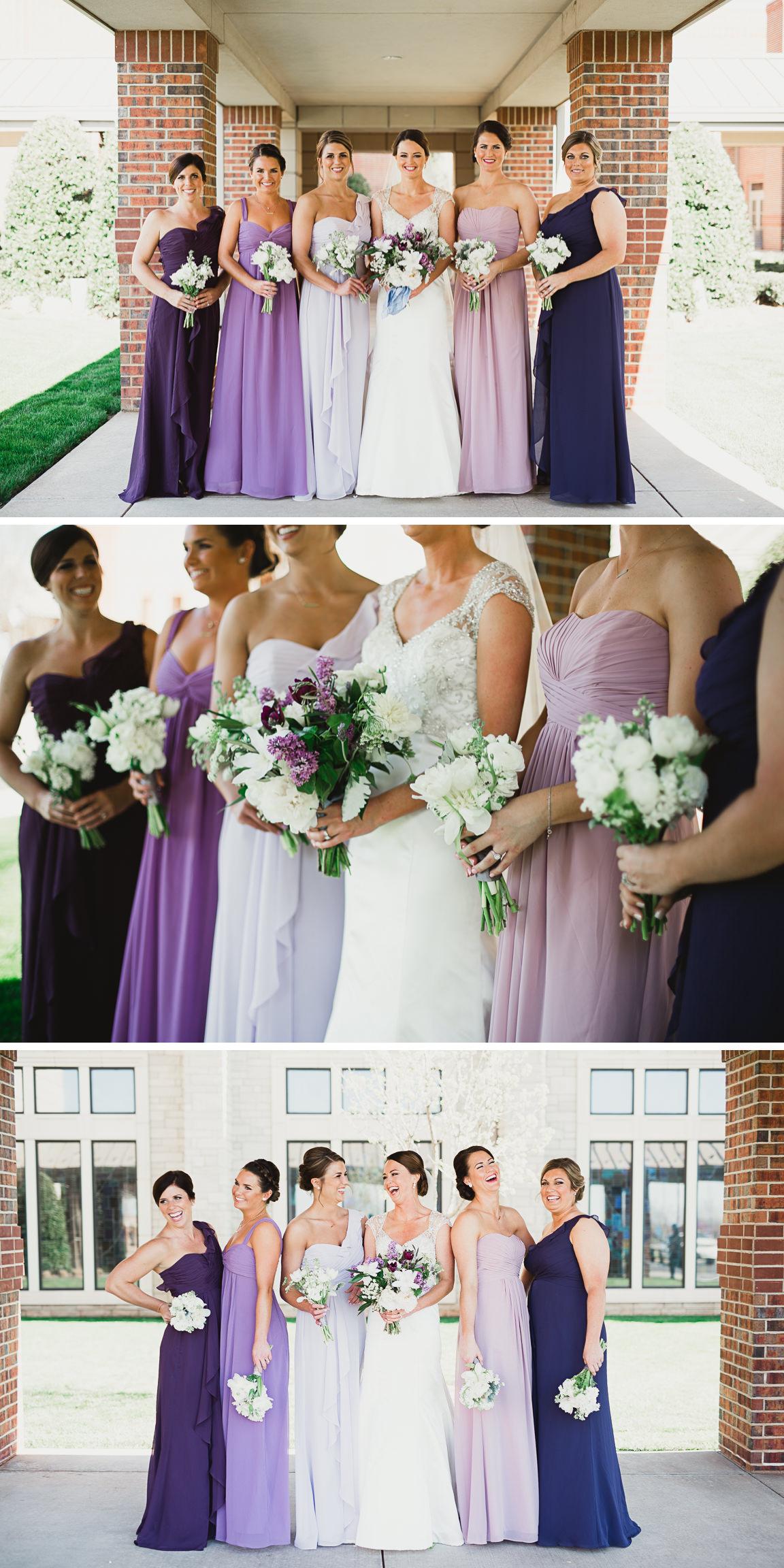 9 bridesmaids ombre purple dresses okc oklahoma weddings catie 9 bridesmaids ombre purple dresses okc oklahoma weddings ombrellifo Gallery