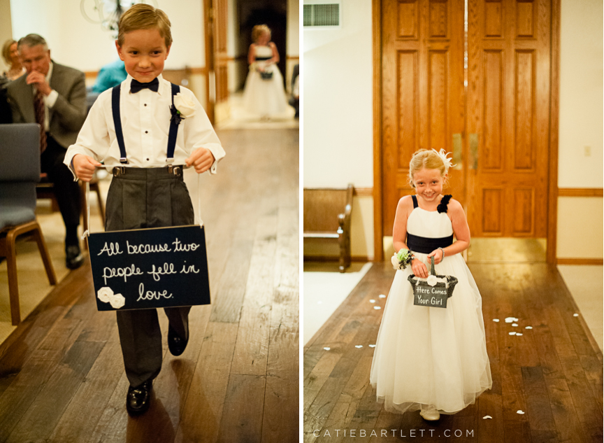 Creedside Wedding Chapel Ceremonies Cute Signs For Flower And Ring Bearer