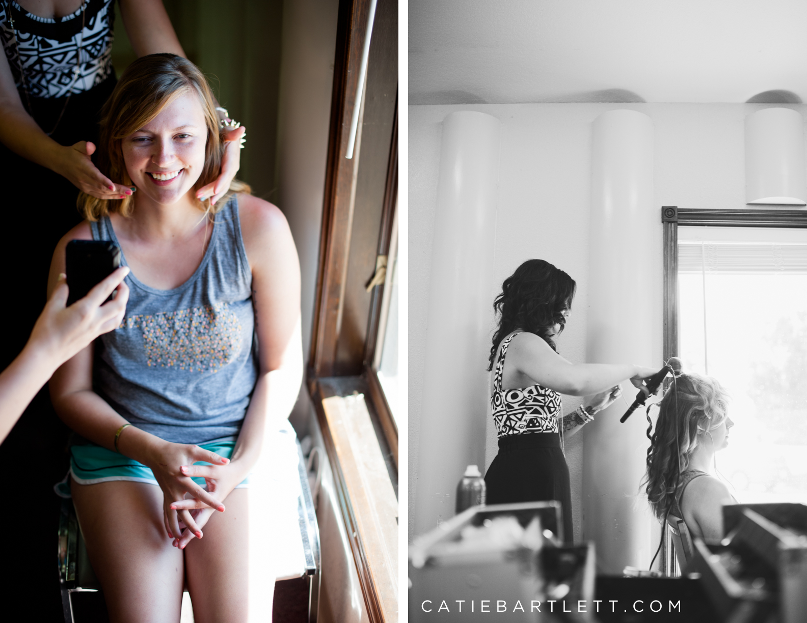 13. getting hair and makeup done oklahoma wedding photography in