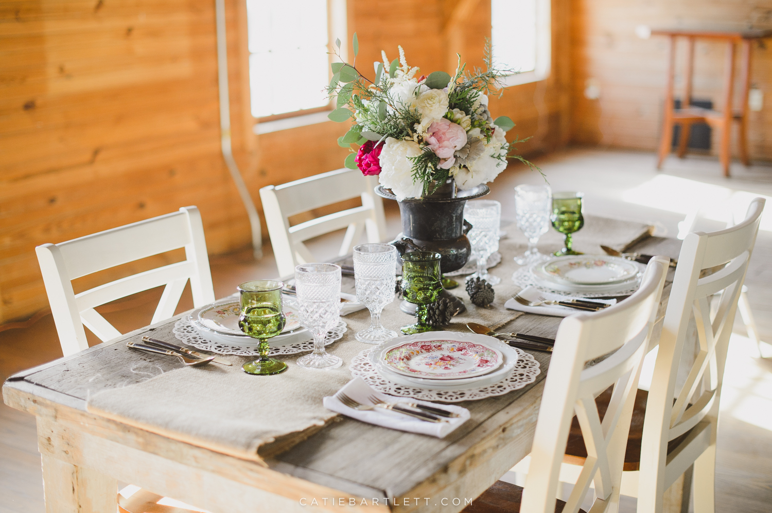 5. winter wedding inspiration tabletop florals table setup rustic ...